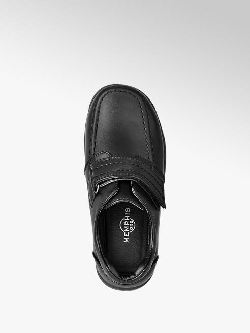 Boys Single Strap Shoes Black by Memphis One